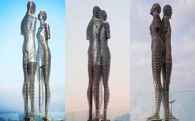 """Câu chuyện phía sau bức tượng tình nhân """"Ali & Nino"""" ở Georgia"""